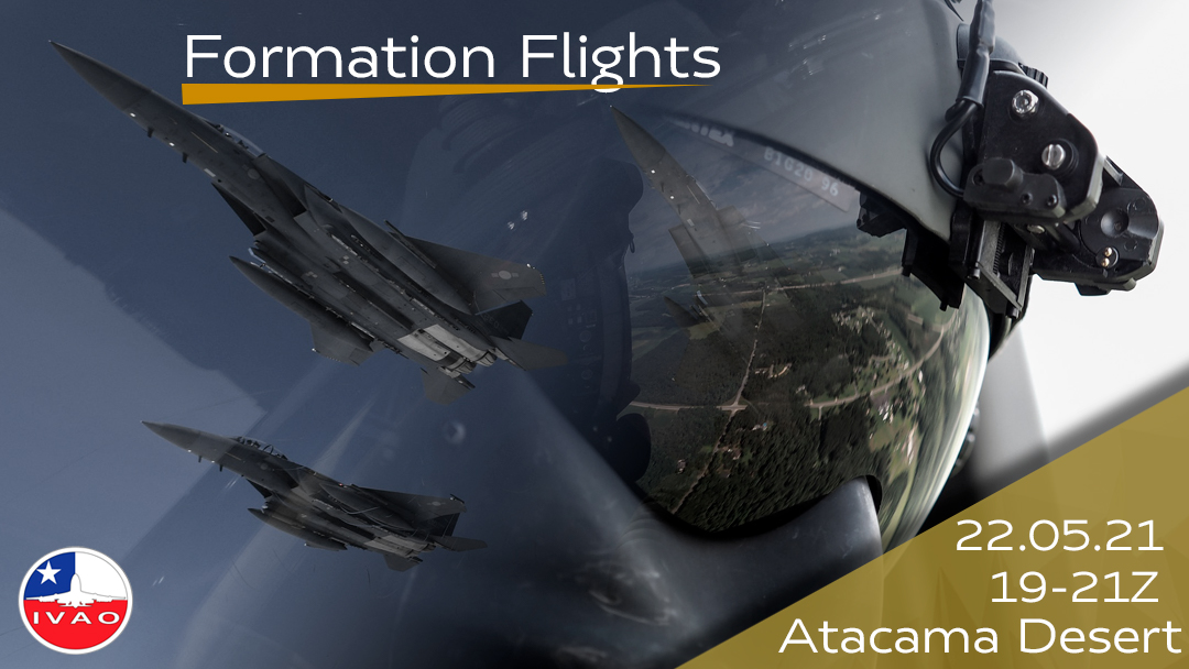 IVAO Formation Flights over the Atacama Desert special operations event