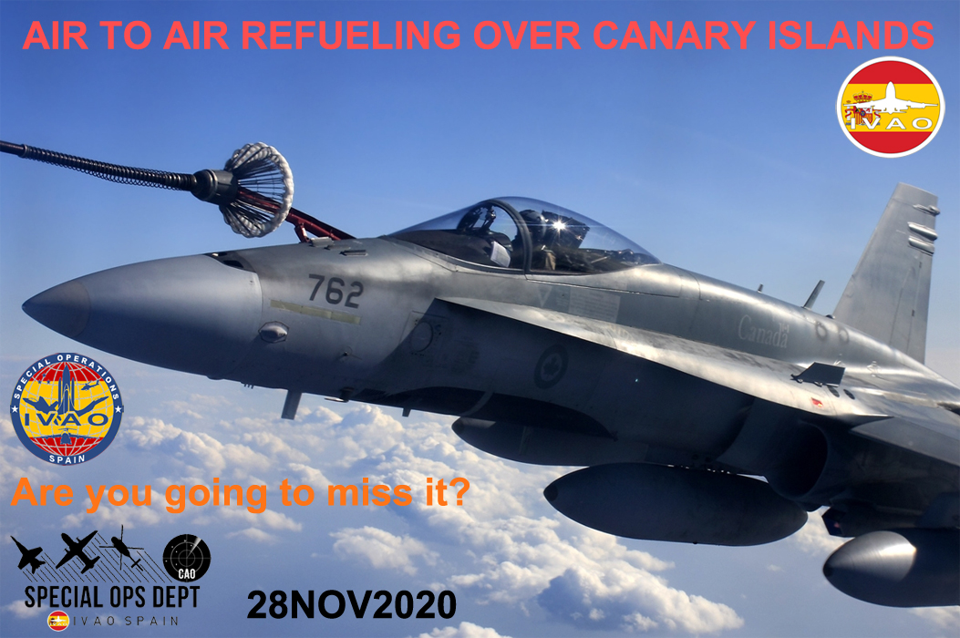 IVAO Air to Air Refueling over Canary Islands special operations event