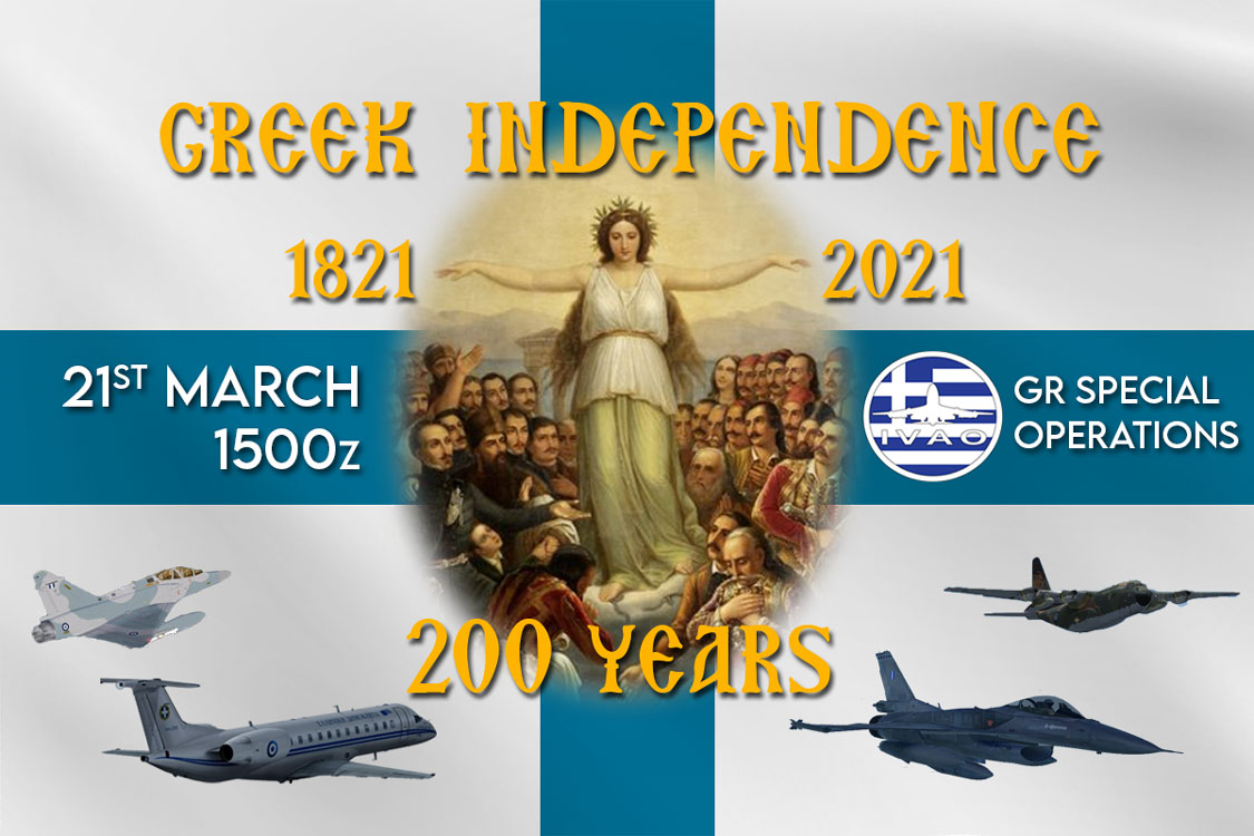 IVAO 200 YEARS HELLENIC GR INDEPENDENCE CELEBRATION special operations event