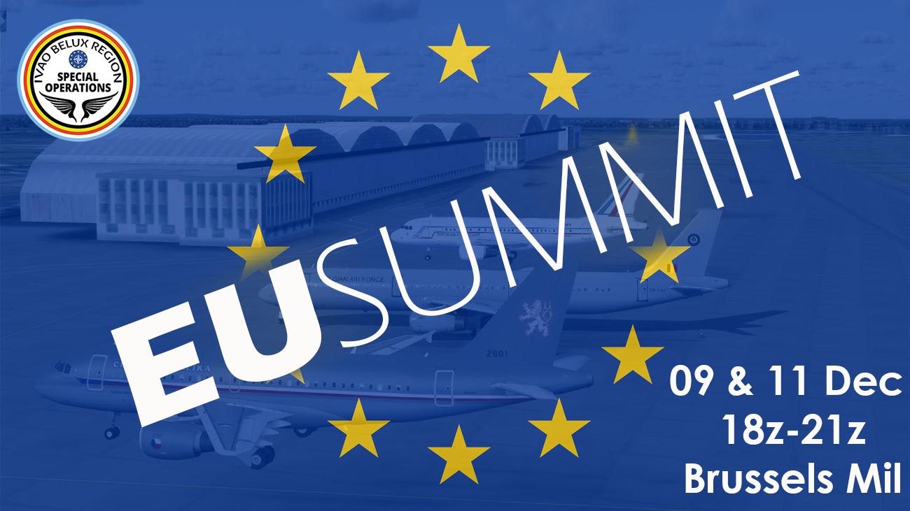 IVAO <i>Departures,</i> EU Summit Event special operations event