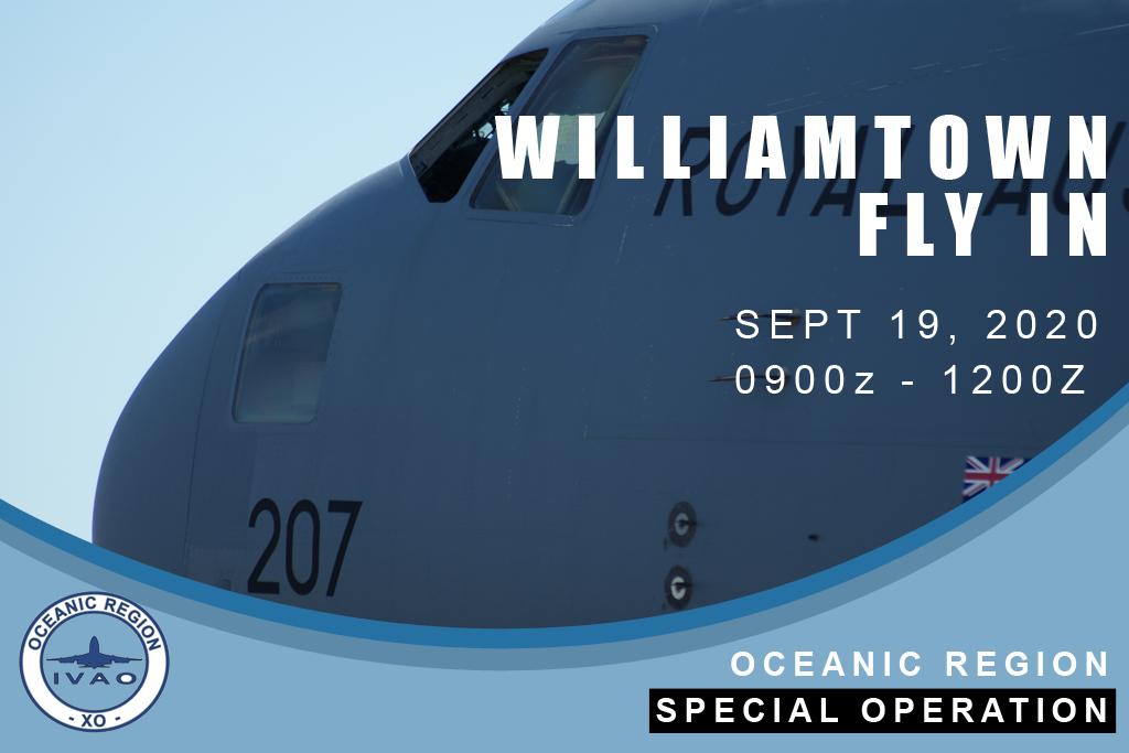 IVAO WILLIAMTOWN FLY IN special operations event