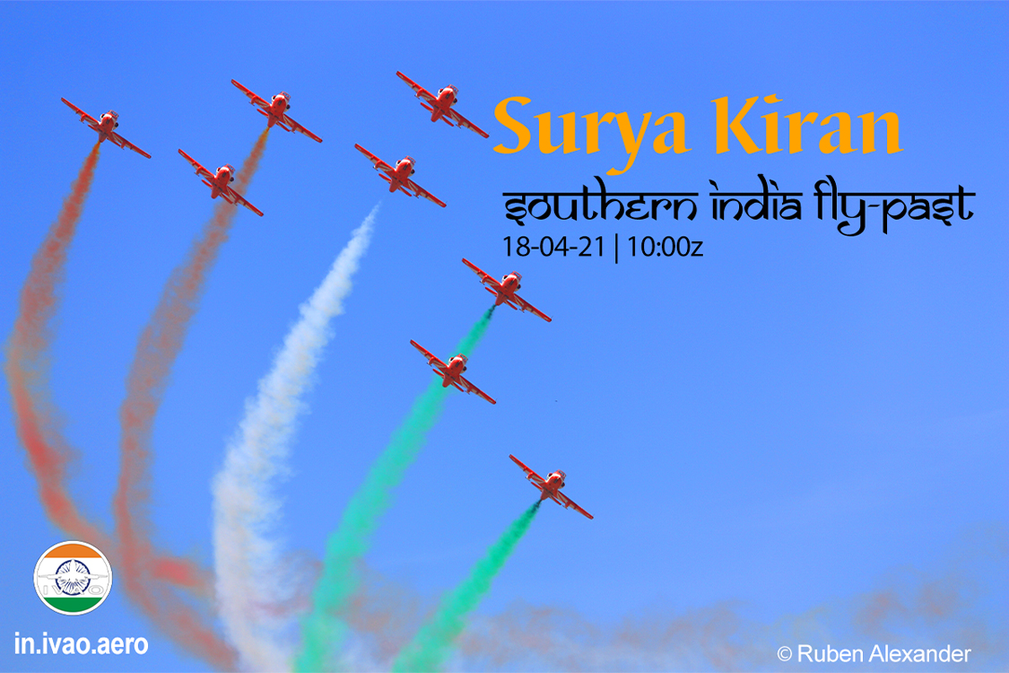 IVAO Surya Kiran Southern India Fly Past special operations event