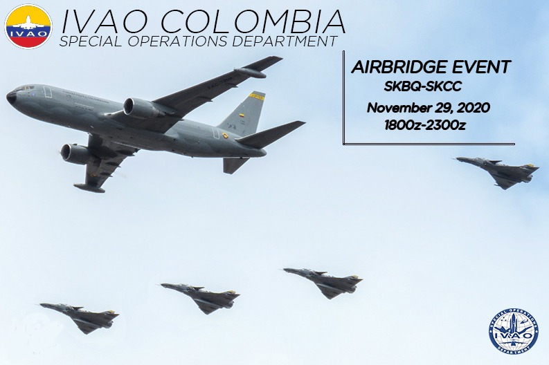 IVAO Airbridge SKBQ and SKCC special operations event