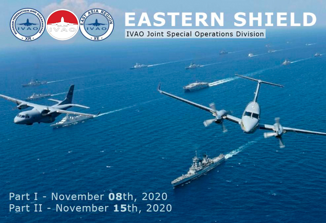 IVAO <i>First part,</i> Eastern Shield special operations event