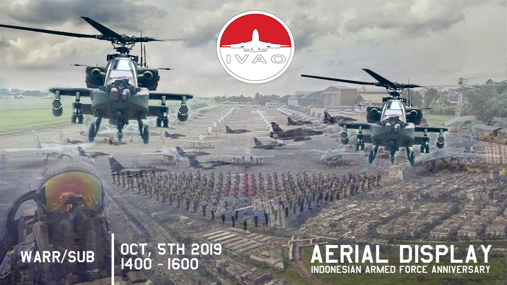 IVAO Indonesian Armed Forces Anniversary Aerial Display special operations event