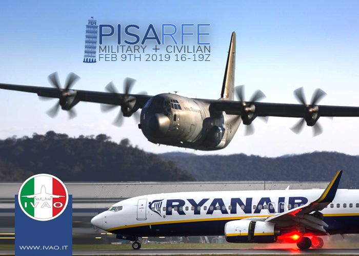IVAO LIRP Pisa Airport RFE special operations event